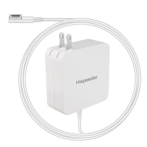 Hispeeder Replacement macbook charger adapter 60W Magsafe L-