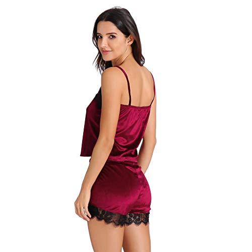 Camisas Pantalones Crop Rojo Tentación Interior Mujer Y Ropa Babydoll Cortos Top Interior zarlle Pijama Camisón lencería Conjuntos HOqdwTv