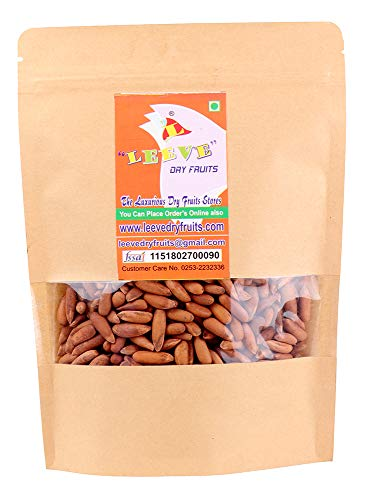 Leeve Dry Fruits With Shell Pine Nuts (Chilgoza) - 400 Gms - Shell Pine Nuts