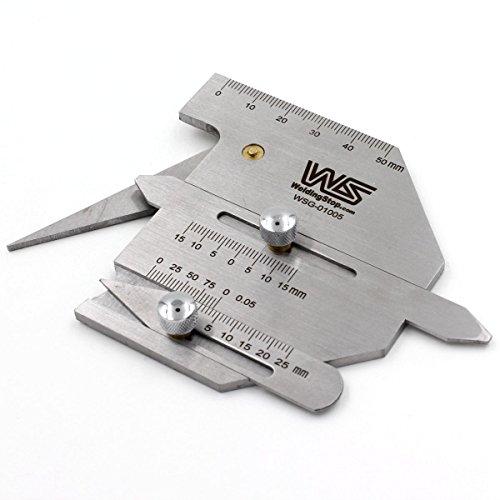 Welding Seam Gauge Weld Fillet Gage Undercut/Misalignment Inspection Tool Multiple-purpose HJC-60 Metric