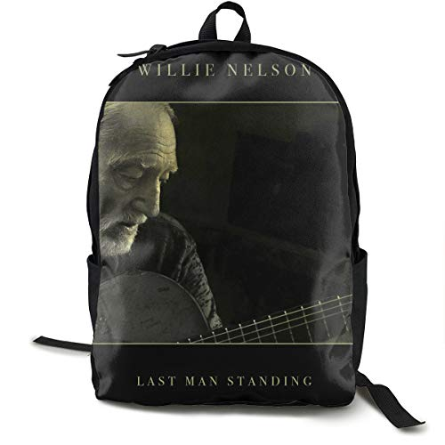 Thomas S Thoms Willie Nelson Last Man Standing Unisex Backpack Hiking Backpack Travel Sports Bag