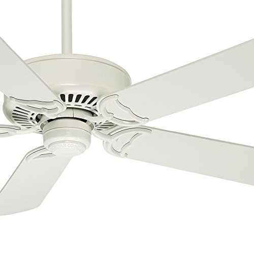 Casablanca 54'' Snow White Finish Ceiling Fan with Remote Control and Matte Snow White Blades ENERGY STAR Rated (Certified Refurbished) by Casablanca