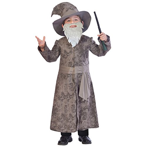 MODO Wise Wizard Children's Costume -In The Style Of Harry Potter's Dumbeldore 9-10 Years World Book Day