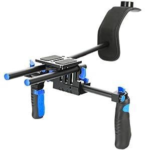 MARSRE DSLR Shoulder Rig Film Making System Camera Shoulder Mount With Camera/Camcorder Mount Slider For All DSLR Video Cameras and DV Camcorders