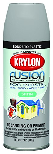 12 Oz Pewter Gray Fusion for Plastic® Spray Paint Satin