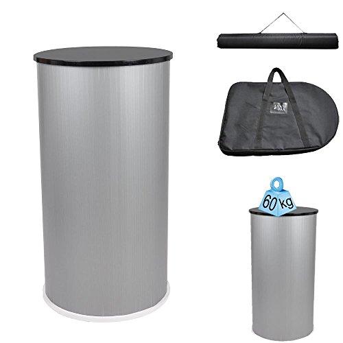Round Trade Show Podium Table Counter Stand Black Portable Counter Popup Design Exhibition