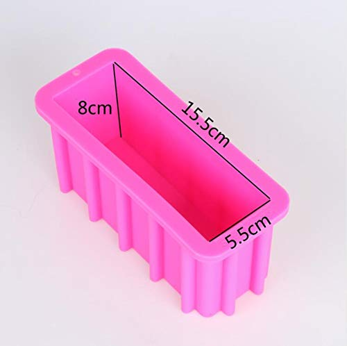 PR363 Silica Gel Tall Silicone Loaf Soap Mold Tall and Skinny Molds Toast Mousse Cake Tools Swirl Soap Mould Rectangle Molds