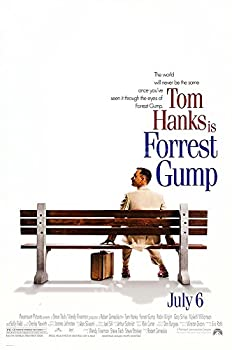 """Posters USA - Forest Gump Movie Poster GLOSSY FINISH) - MOV101 (24"""" x 36"""" (61cm x 91.5cm))"""