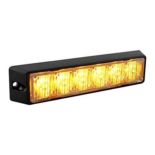 LAMPHUS SolarBlast SBLH06 LED Strobe Grille Flashing Lights [32 Modes] [6 Watt] [TIR] [Weatherproof] Warning Lights for Police & Firefighter Emergency Vehicles - Amber/Amber