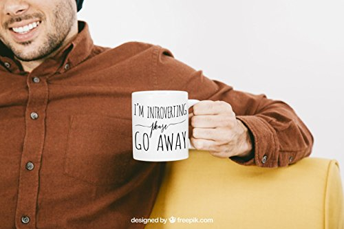 Coffee Mug, I'm Introverting Please Go Away Mug, Ceramic Mug, Quote Mug, Paper Berry Press, Unique Coffee Mug, Gift for Her, Wedding - Glasses Nerd Name