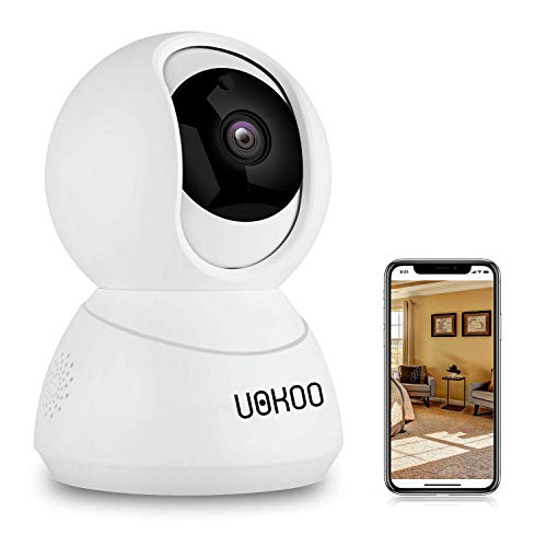 UOKOO Wireless Security Camera, 720P HD Home WiFi Wireless Security Surveillance IP Camera with Motion Detection Pan/Tilt, 2 Way Audio and Night Vision Baby Monitor, Nanny Cam (UPGRADED NEW VERSION) by UOKOO