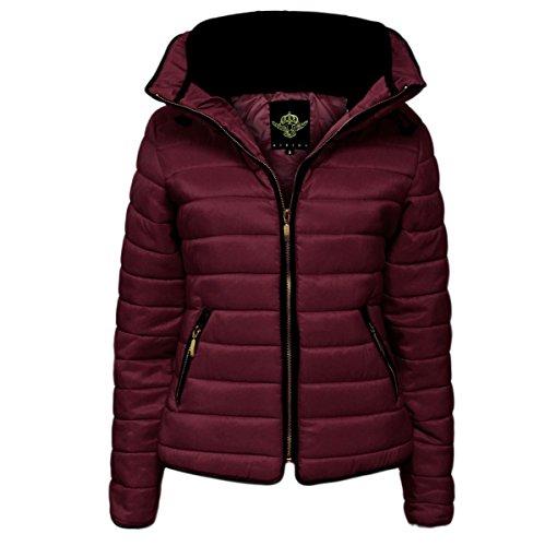 Damas Costura Warm Capitonnées Vin Fur Abrigo Collar Acolchada De Gruesa Puffer Mujeres Burbuja Chaqueta Glam Nouveaux UwfqEdU1