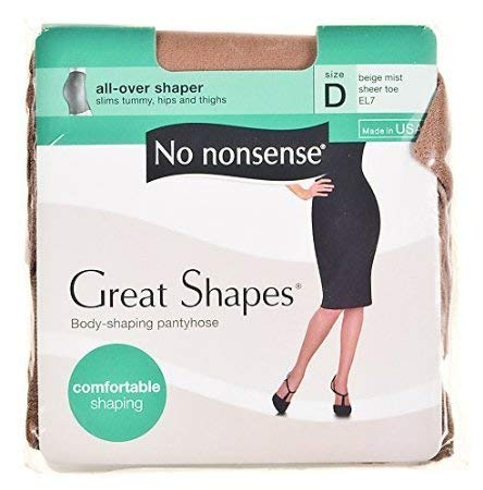 No Nonsense JQ5EL7 Beige Mist All Over Shaper Nylons ()