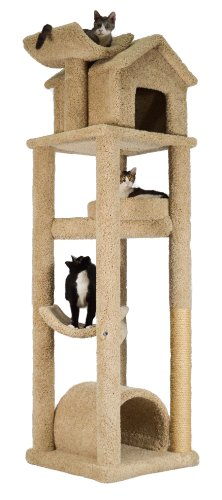 "Cat Skyscraper - Ultimate Playhouse - Tan (Tan) (85""H x 25""W x 30""D)"