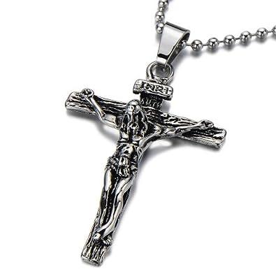 collier homme jesus