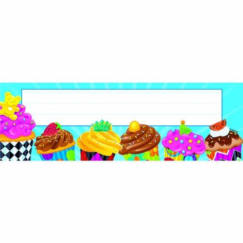 TREND ENTERPRISES INC. BAKE SHOP CUPCAKES DESK TOPPERS (Set of 24)