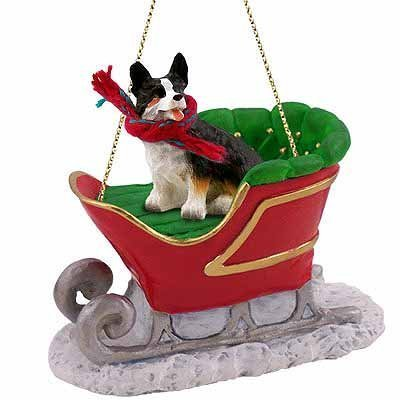 Conversation-Concepts-Welsh-Corgi-Cardigan-Dog-in-Sleigh-Christmas-Ornament-New