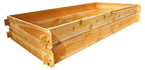Timberlane Gardens Raised Bed Kit Double Deep (Two 3x6) Western Red Cedar with Mortise and Tenon Joinery 3 Feet x 6 Feet by Timberlane Gardens