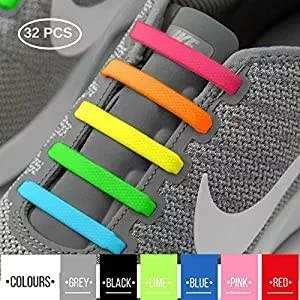 74c6c34e742 2SPORTIFY 2 Pack No Tie Shoelaces for Kids and Adults - Tieless Elastic  Shoe lace for Sneakers Silicone Flat Shoe Laces 2 Pair