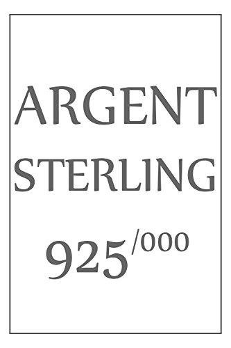 ISADY - Dominique Noir - Bague Femme - Argent 925 - Oxyde de zirconium transparent et noir
