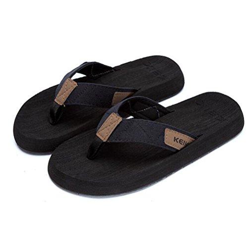 moda al Zapatillas aire Chanclas resistente verano al Casual Hombres libre black lona Sandalias YWNC de de de de Clip playa desgaste XpzxnZwT