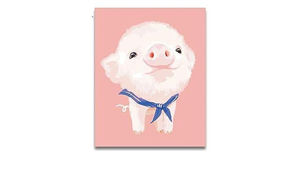 Animal tallado cerdo rosado con corbata foto pintura al óleo de ...