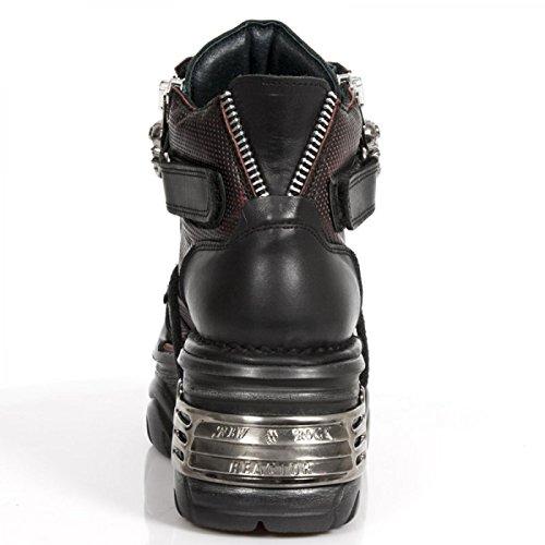 Nuovi Stivali Di Roccia M.1065-c1 Gotico Hardrock Punk Stiefelette Unisex Schwarz
