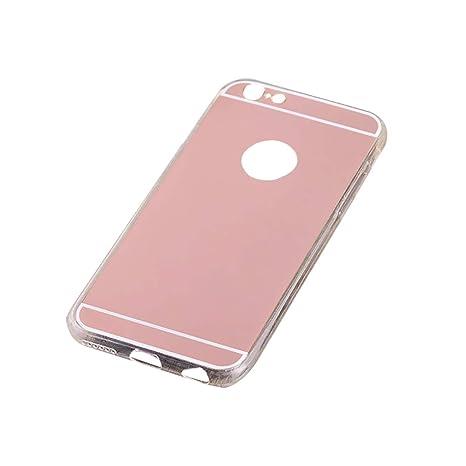 Dosige Funda iPhone 6/6s, iPhone 6/6s Carcasa con, iPhone 6/6s Caja del teléfono Espejo,Fundas para iPhone 6/6s Oro Rosa