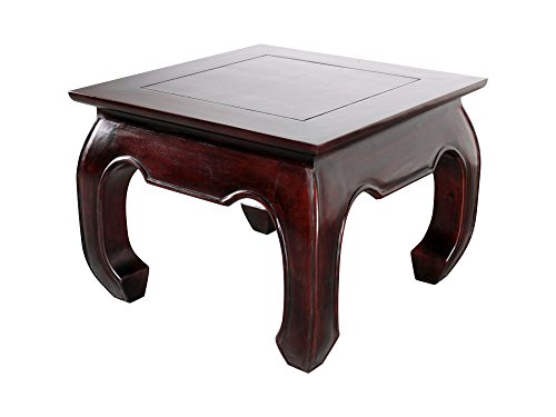 - NES Furniture NES Fine Handcrafted Furniture Solid Mahogany Wood Opium Side/End Table - 20
