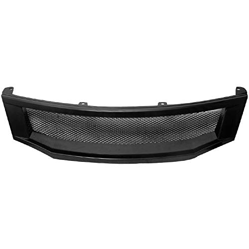 Grille Compatible With 2008-2010 Honda Accord Sedan | T-R Style ABS Black Front Bumper Hood Grill by IKON - Grill Honda Accord 2008