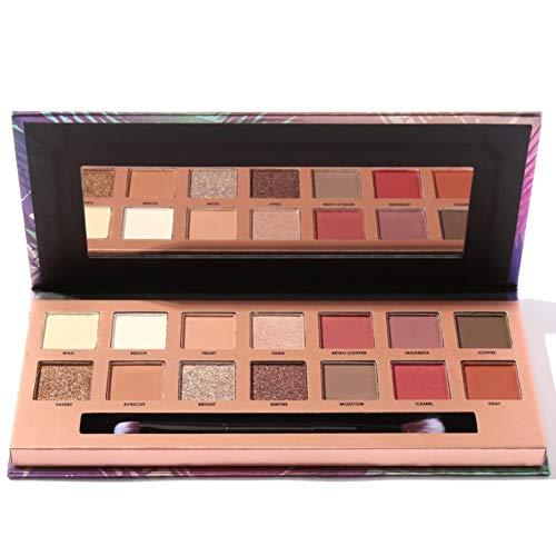 14 Colors Eyeshadow Palette Glamorous Smokey Eye Shadow Shimmer Colors Makeup Kit ()