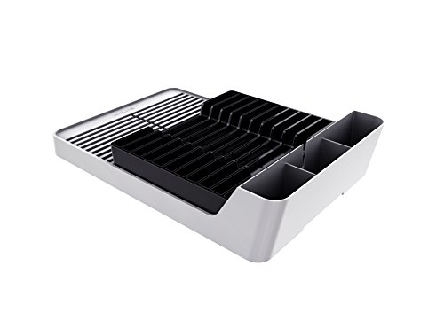 - Crippa Deluxe Smart Dish Drying Rack. Plastic. Sink Dish Rack Drainer (Black)