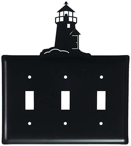 8 Inch Lighthouse Triple Switch (Lighthouse Switchplate Cover)
