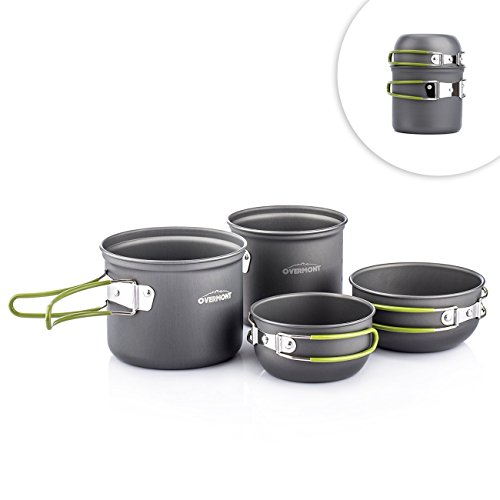 Overmont Portable Outdoor Aluminum Cookware
