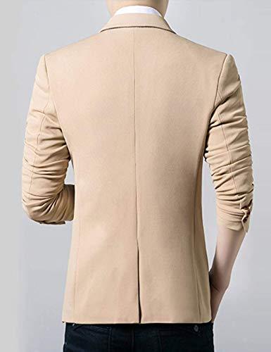 Costume Blazer 1 Fit Long Casual Vestes Veste Loisir Moderne Bouton Slim Schwarz Hommes r4EWzqr