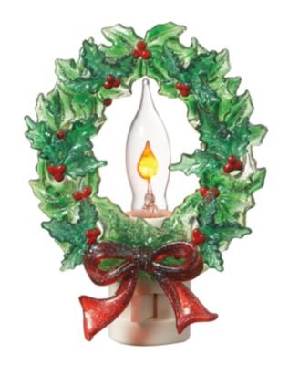 Lights In The Night By Midwest Cbk Holly Christmas Wreath