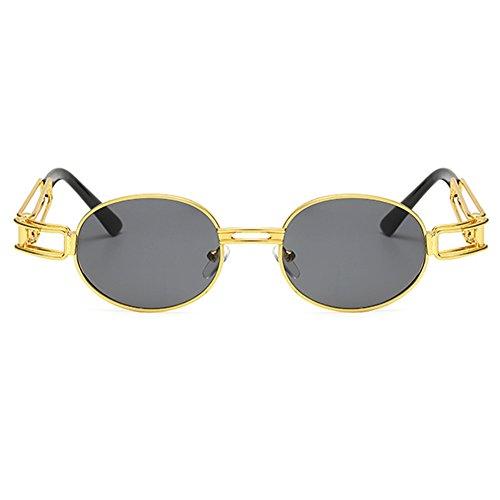 lunettes C10 rétro ovale Juleya en femmes de hommes lunettes Vintage ronde soleil Steampunk métal 54wqfTS