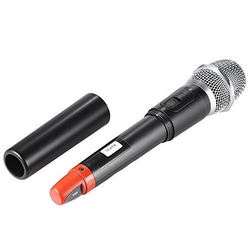 Walmeck Wireless Microphones System 2 Microphones 1 Receiver LCD Display for Karaoke Meeting Party by Walmeck (Image #2)