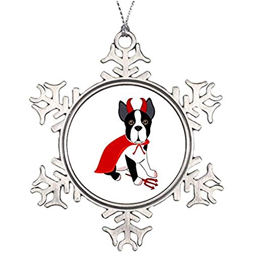 Diuangfoong Tree Branch Decoration Dressed Up Dog Little Devil Halloween Dog Snowman Snowflake Ornaments]()