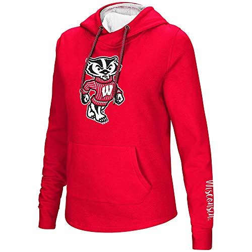 (Colosseum Womens Wisconsin Badgers Pull-Over Hoodie - XL)