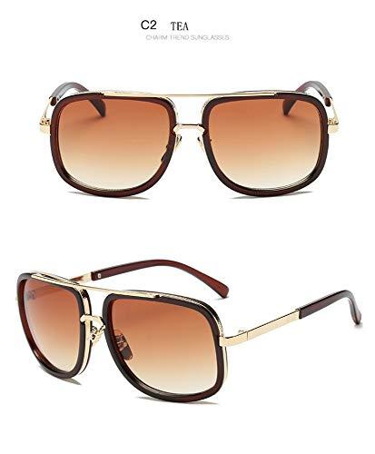 FUZHISI Gafas de Sol Gafas de Sol con Montura Grande para ...