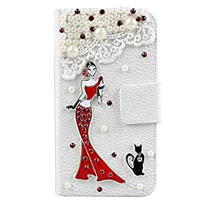 DD Elegant Woman with Dress Full Body Case for iPhone 5/5S