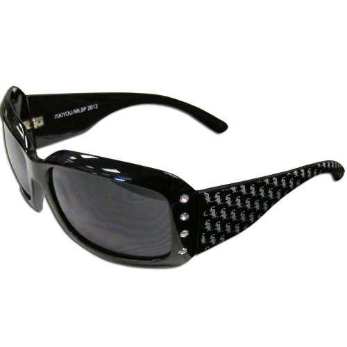 MLB Chicago White Sox Women's Designer Sunglasses (Chicago White Sox Rhinestone)