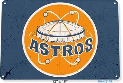 Amazon com : TIN Sign 8x12 inch Houston Astros Retro Metal Decor