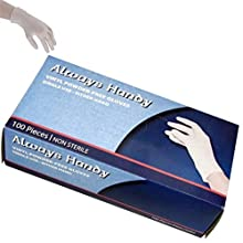 Always Handy Vinyl Powder Free Gloves 100/box, General Purpose, Foodservice Clear Gloves, Large