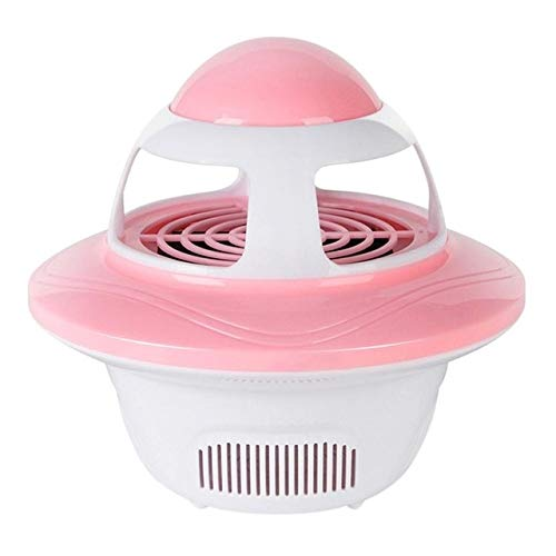 Creative UFO Shape Mosquito Killer Lamp USB Electric Fly Bug Zapper Insect Traps LED Light Trap Lamp Pest Control   Pink,