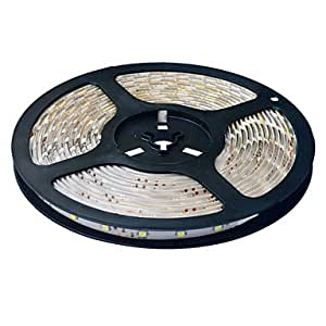 Wan impermeable 10m 600–3528SMD tira de luz blanco cálido blanco LED (lightt (12V CC)