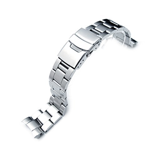 Pulsera de repuesto para reloj Seiko Diver Super Oyster SKX023 de tamaño medio, 20 mm, cierre tipo botón, acabado cepillado: Amazon.es: Relojes