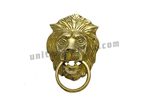 "StonKraft Beautiful Brass Lion Mouth Door Knocker | Door Accessories | Gate Knocker (5"")"
