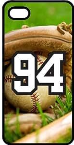 Baseball Sports Fan Player Number 94 Black Plastic Decorative iphone 5c Case